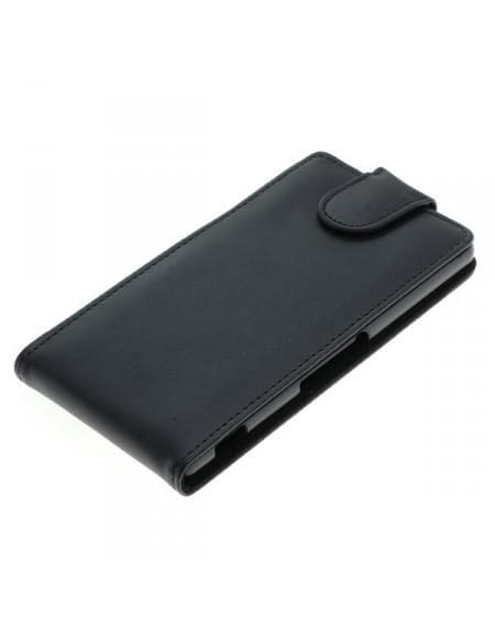 Kunstleder Tasche für Sony Xperia M5 Flipcase schwarz
