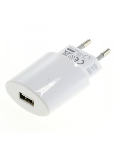 Ladeadapter USB - 2,4A mit Auto-ID - weiß