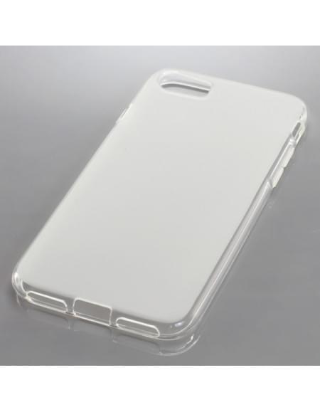Silikon Case / Schutzhülle für Apple iPhone 7 transparent weiß