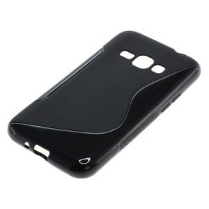 Silikon Case / Schutzhülle für Samsung Galaxy J1 (2016) SM-J120 S-Curve schwarz