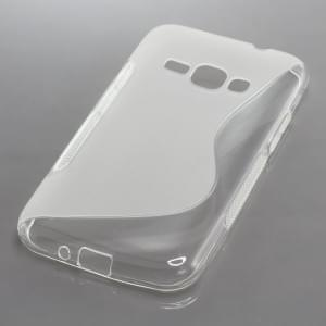 Silikon Case / Schutzhülle für Samsung Galaxy J1 (2016) SM-J120 S-Curve transparent