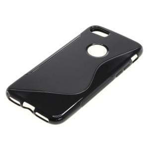 Silikon Case / Schutzhülle für Apple iPhone 7 S-Curve schwarz