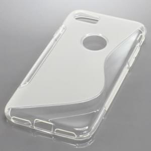 Silikon Case / Schutzhülle für Apple iPhone 7 / 8 S-Curve transparent