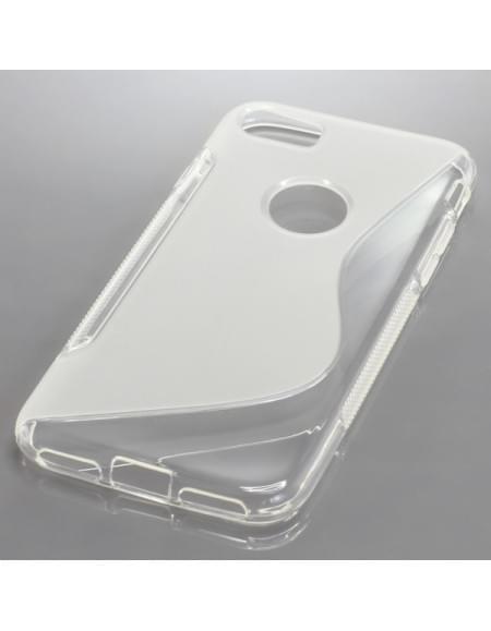 Silikon Case / Schutzhülle für Apple iPhone 7 S-Curve transparent