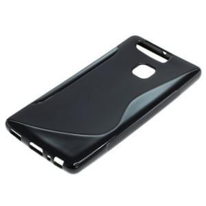 Silikon Case / Schutzhülle für Huawei P9 S-Curve schwarz