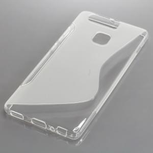Silikon Case / Schutzhülle für Huawei P9 S-Curve transparent