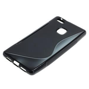 Silikon Case / Schutzhülle für Huawei P9 Lite S-Curve schwarz