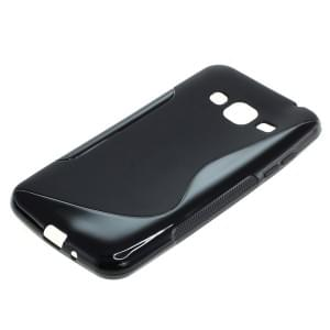 Silikon Case / Schutzhülle für Samsung Galaxy J3 (2016) SM-J320 S-Curve schwarz