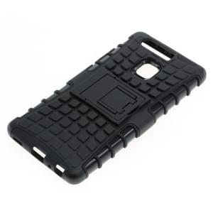 Outdoor Dual Schutzhülle mit Ständer für Huawei P9 schwarz