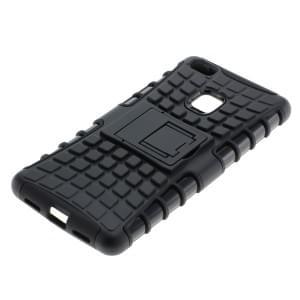 Outdoor Dual Schutzhülle mit Ständer für Huawei P9 Lite schwarz