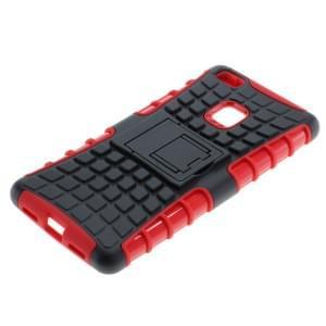 Outdoor Dual Schutzhülle mit Ständer für Huawei P9 Lite schwarz / rot
