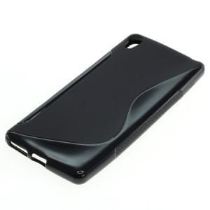 Silikon Case / Schutzhülle für Sony Xperia XA S-Curve schwarz