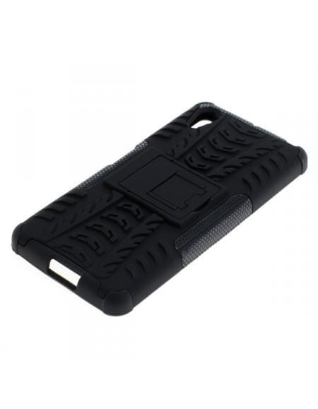 Outdoor Dual Schutzhülle mit Ständer Sony Xperia X Performance schwarz