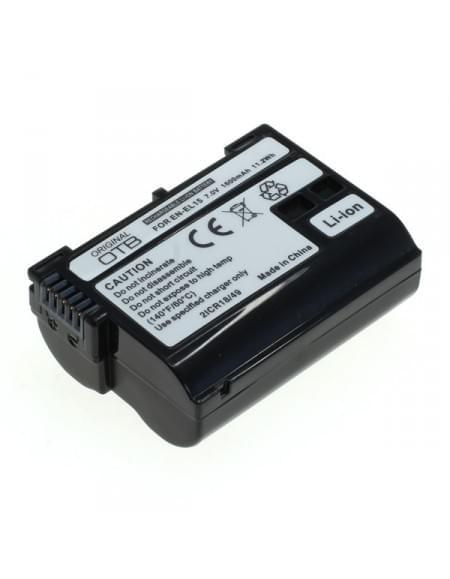 CE zertifiziert Akku, Ersatzakku ersetzt Nikon EN-EL15 Li-Ion 1600mAh