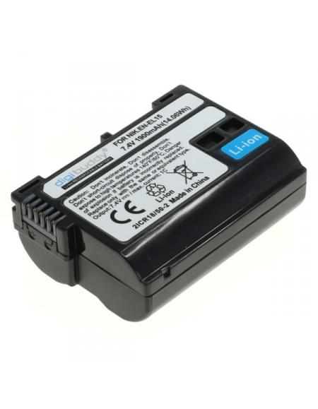 CE zertifiziert Akku, Ersatzakku EN-EL15 für Nikon 1 V1 / D500 / D600 / D610 / D750 / D800 / D800E / D810 / D810A / D7000 / D7100 / D7200 Li-Ion