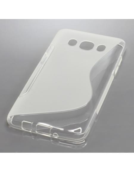 Silikon Case / Schutzhülle für Samsung Galaxy J5 (2016) SM-J510 S-Curve transparent
