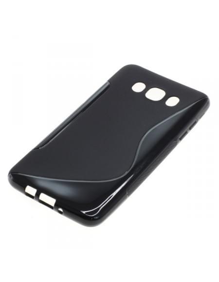 Silikon Case / Schutzhülle für Samsung Galaxy J7 (2016) SM-J710 S-Curve schwarz