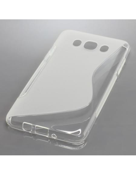 Silikon Case / Schutzhülle für Samsung Galaxy J7 (2016) SM-J710 S-Curve transparent