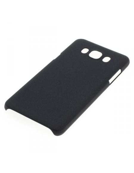 Backcover Case / Schutzhülle für Samsung Galaxy J7 (2016) SM-J710 - Sandstruktur - schwarz