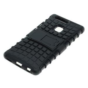Outdoor Dual Schutzhülle mit Ständer für Huawei P9 Plus schwarz