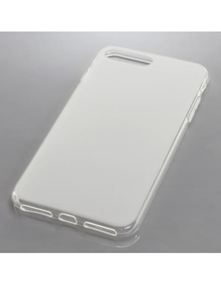 Silikon Case / Schutzhülle für Apple iPhone 7 Plus transparent weiß