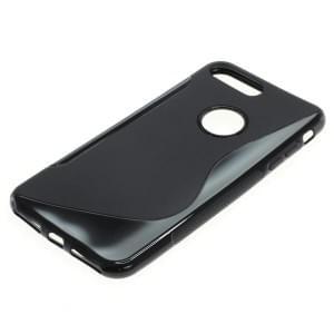 Silikon Case / Schutzhülle für Apple iPhone 8 Plus / 7 Plus S-Curve schwarz