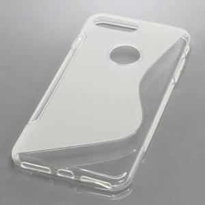 Silikon Case / Schutzhülle für Apple iPhone 8 Plus / 7 Plus S-Curve transparent