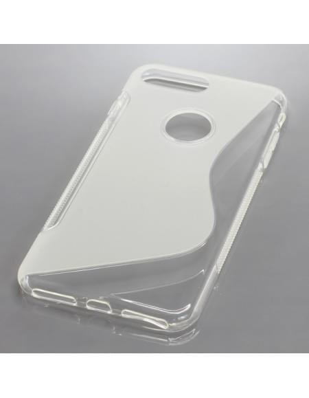 Silikon Case / Schutzhülle für Apple iPhone 7 Plus S-Curve transparent