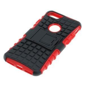 Outdoor Dual Schutzhülle mit Ständer für Apple iPhone 7 / 8 schwarz-rot