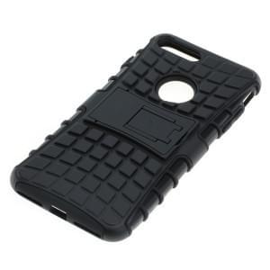 Outdoor Dual Schutzhülle mit Ständer für Apple iPhone 8 Plus / 7 Plus schwarz