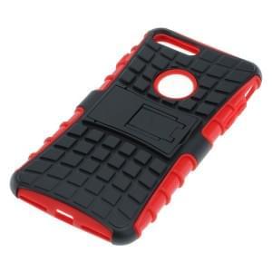 Outdoor Dual Schutzhülle mit Ständer für Apple iPhone 8 Plus / 7 Plus schwarz rot