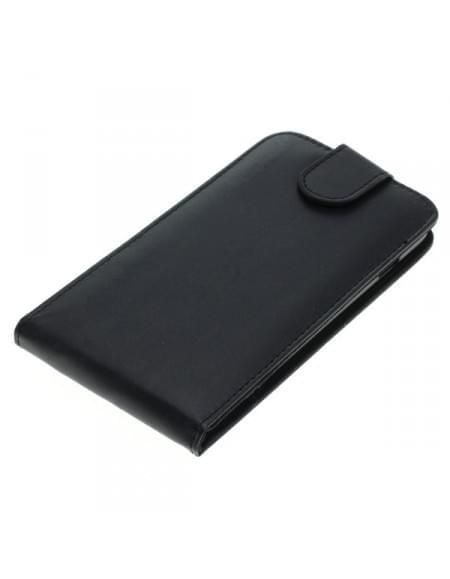 Kunstleder Tasche für Apple iPhone 7 Plus Flipcase schwarz