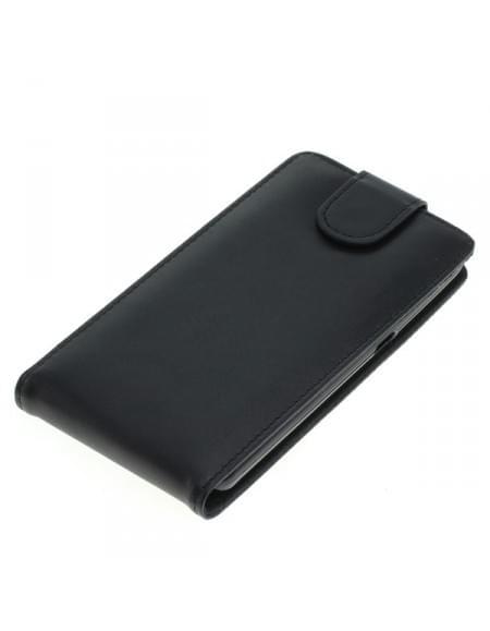 Kunstledertasche für Coolpad Porto S Flipcase schwarz