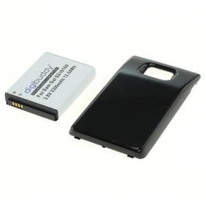 Power Akku für Samsung Galaxy S II I9100 Li-Ion fat Rückdeckel schwarz