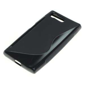 Silikon Case / Schutzhülle für Sony Xperia X Compact S-Curve schwarz