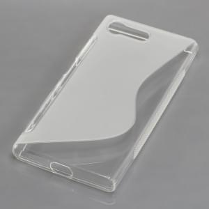 Silikon Case / Schutzhülle für Sony Xperia X Compact S-Curve transparent