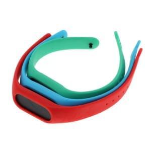 TPU Armband für Xiaomi Mi Band 2 - 3er Set - blau/rot/grün