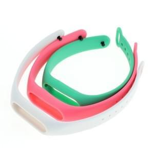 TPU Armband für Xiaomi Mi Band 2 - 3er Set - hellgrün/weiß/pink