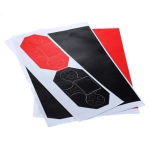 Individualisierung Aufkleberset für Playstation 4 / PS4 - Rot / Schwarz