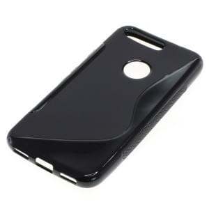 Silikon Case / Schutzhülle für Google Pixel S-Curve schwarz