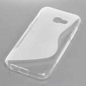 Silikon Case / Schutzhülle für Samsung Galaxy A5 (2017) S-Curve transparent