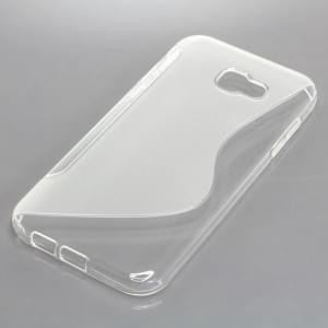 Silikon Case / Schutzhülle für Samsung Galaxy A7 (2017) S-Curve transparent
