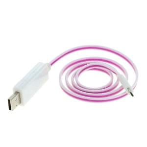 Datenkabel Micro-USB mit animiertem Lauflicht - weiß-violett