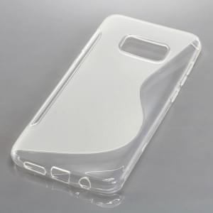 Silikon Case Schutzhülle für Samsung Galaxy S8 Plus S-Curve transparent