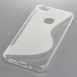 Back Cover Case / Schutzhülle für Huawei P10 Lite S-Curve transparent