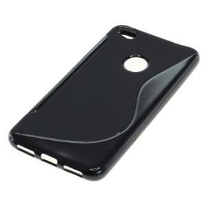 TPU Silikon Case / Schutzhülle für Huawei P8 Lite 2017 S-Curve schwarz