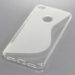 Silikon Schutzhülle für Huawei P8 Lite 2017 S-Curve transparent