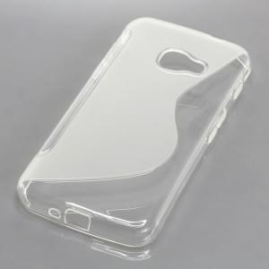 TPU Silikon Case / Schutzhülle für Samsung Galaxy XCover 4 S-Curve transparent / weiß