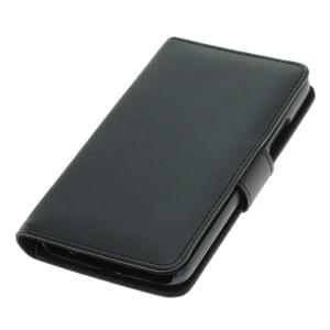Handytasche Ledertasche PU Leder für Lenovo / Motorola Moto G5 Bookstyle schwarz