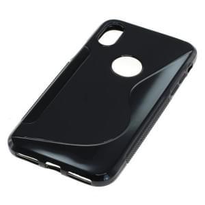 Silikon Case Schutzhülle für Apple iPhone X S-Curve schwarz